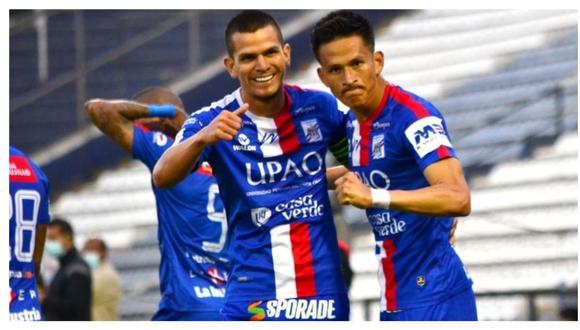 """El """"Charapita"""" Relly Fernández y el colombiano Arley Rodríguez marcaron en la victoria del cuadro tricolor. Los trujillanos también se ubican en la cuarta casilla de la tabla acumulada de la Liga 1 con 42 puntos. (Foto: CAM)"""