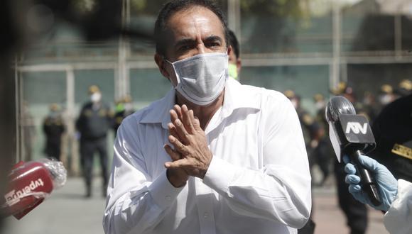 Gastón Rodríguez declaró desde la Unidad de Servicios Especiales de la Región Policial Lima. (Foto: César Campos / GEC)