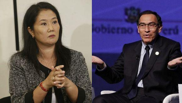 """Keiko Fujimori: """"Espero que Martín Vizcarra no cierre el Congreso"""""""