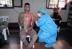 Inoculan a 1464 soldados de Junín y Huancavelica con primera dosis de vacunas Pfizer
