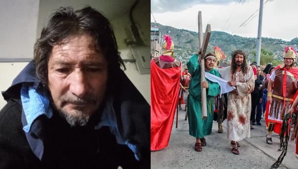 Segundino, el ayacuchano que interpreta a Cristo y hoy  vive su propio Vía Crucis a causa del coronavirus