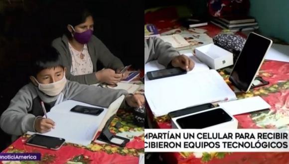 Madre e hijo que compartían celular para clases virtuales recibieron un iphone, una tablet y otros equipos tecnológicos gracias a personas solidarias