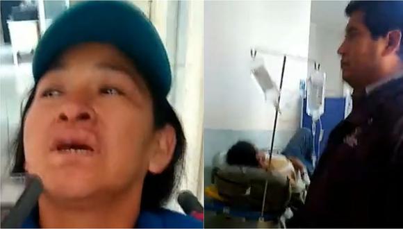 Tres personas resultan  heridas, entre ellas una regidora al volcar camioneta en Huamachuco