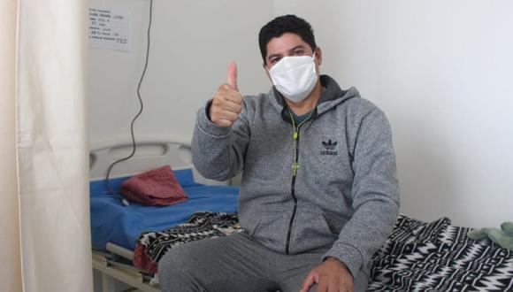 San Martín: El alcalde de Tocache, Sister Valera Ramírez (43), le gana la batalla a la COVID-19 y es dado de alta del Hospital Emergencia Ate Vitarte, en Lima. (Foto Minsa)