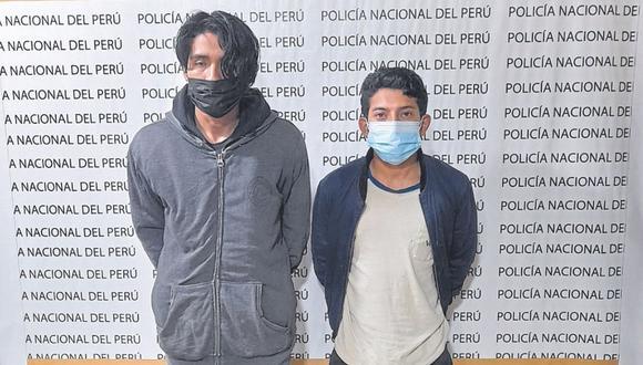 Sospechosos iban a bordo de un mototaxi y fueron detenidos tras denuncia de una joven.