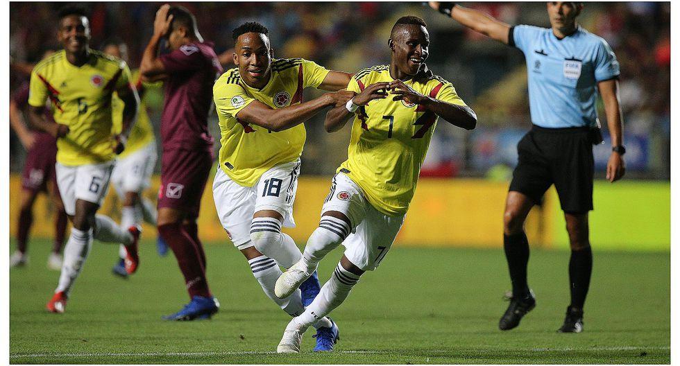 Colombia derrotó 2-0 a Venezuela y se mete en la pelea por un cupo al Mundial de Polonia (VIDEO)