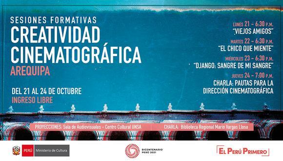 Directores comentaran sus peliculas con público arequipeño