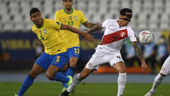 Perú vs. Brasil: chocan en Recife por Eliminatorias Qatar 2022. (Foto: AFP)
