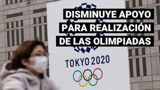 Apoyo para realización de los Juegos Olímpicos en Japón disminuye