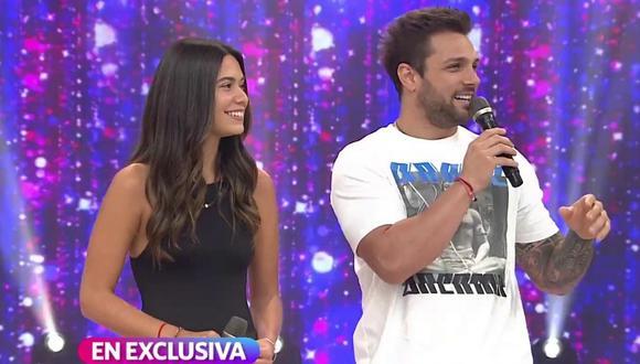 Alejandra Campaña y Nicola Porcella tienen una relación de seis meses y hace unos días se hicieron un tatuaje juntos. (Fotos: Captura América TV)