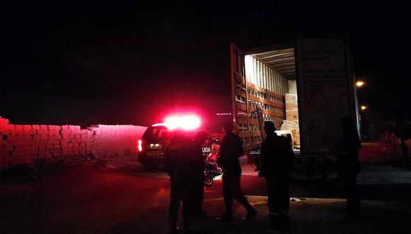 Banda de ladrones robó 26 mil soles en telas de un camión