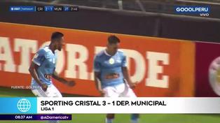 Sporting Cristal sigue imparable tras derrotar a Municipal por Liga 1