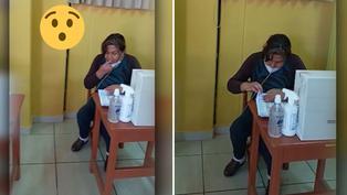 Viral: Miembro de mesa rompe protocolos sanitarios al realizar conteo de planillas