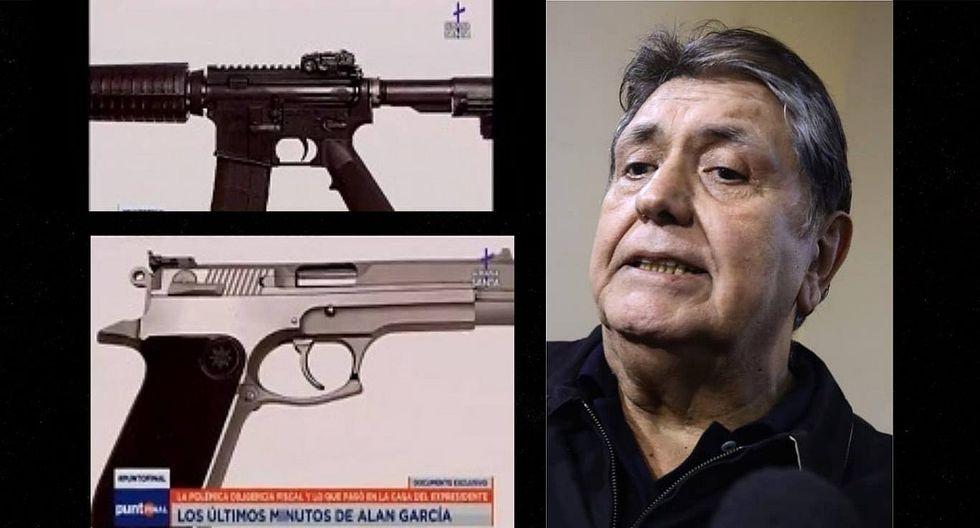 """Expresidente Alan García tuvo nueve armas en su poder y cinco de ellas estaba registradas como """"robadas""""(VIDEO)"""