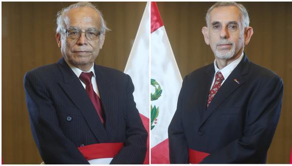 Pedro Francke y Aníbal Torres juraron como ministros de Economía y Justicia. (Fotos: PCM)