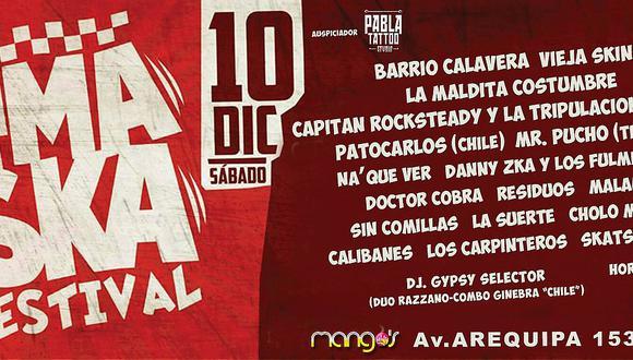 Lima será sede del primer Festival de Ska del Perú