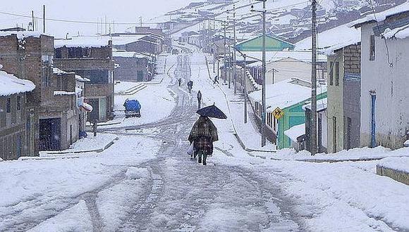 Advierten temporal de nieve y granizo en la región Puno