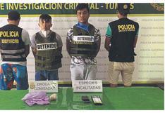 Prisión preventiva para dos investigados por droga en Tumbes
