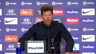 """Diego Simeone: """"Posiblemente, si ese gesto lo hace otro futbolista no reacciona así"""""""