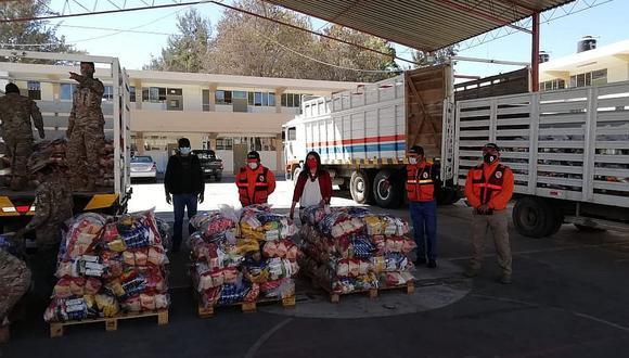 Privados donan 40 toneladas de ayuda para Arequipa