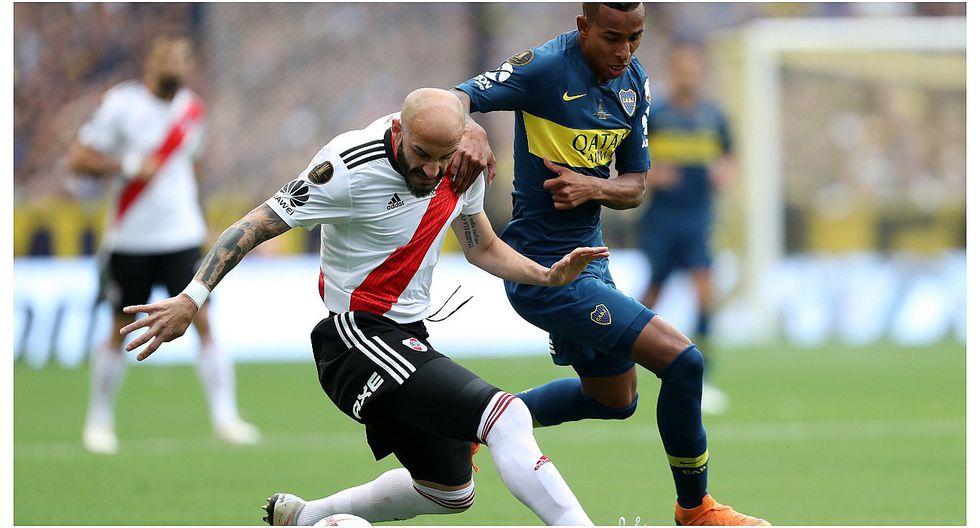 Boca Junios y River Plate igualaron 2-2 en la primera final de la Copa Libertadores (VIDEO)