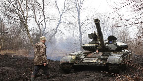 Fuerte militarización a ambos lados de la frontera ruso-ucraniana revive los recuerdos del conflicto armado del 2014 que dejó más de 13 mil muertos. (Foto: AFP)