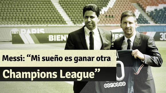 """Lionel Messi: """"My dream is to lift another Champions League and I fell in the right place to get it"""""""