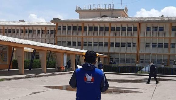 El hospital de Juliaca está prácticamente saturado.