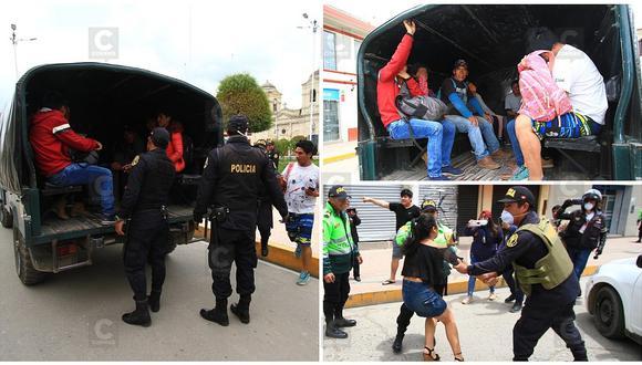 Huancayo: Más de mil detenidos en segundo día de cuarentena nacional (VIDEO)