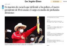 Así informa la prensa extranjera sobre la juramentación de Pedro Castillo (FOTOS)