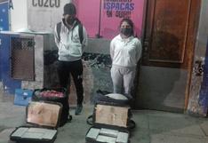 Arequipa: Dos jóvenes caen con ocho kilos de droga en terminal terrestre