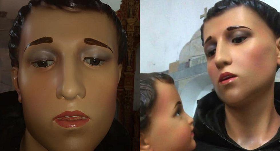 """Restauración de santo causa polémica entre fieles por """"exceso de maquillaje"""" (FOTO)"""