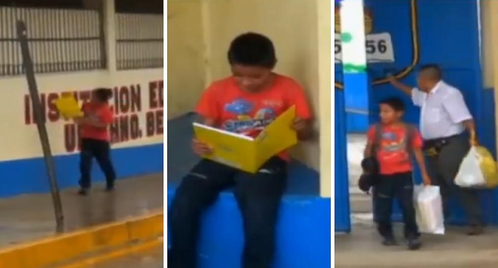 Tarapoto: Niño que camina dos horas para ir a su colegio y llega temprano tiene a su mamá con cáncer