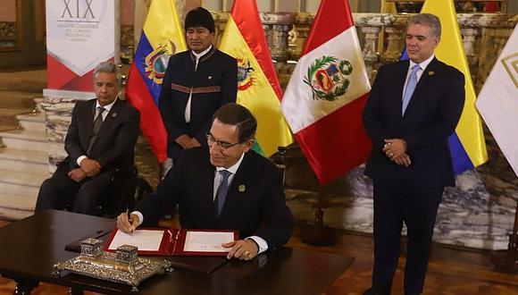 Comunidad Andina firma acuerdo para fortalecer el comercio y la tecnología (FOTOS)