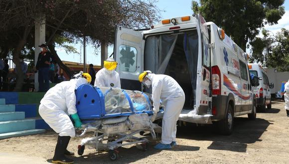 Otros 19 infectados con el Covid-19 murieron cuando eran trasladados a un nosocomio. Los hospitales que más decesos han reportado son el Regional y el de Alta Complejidad de Essalud.