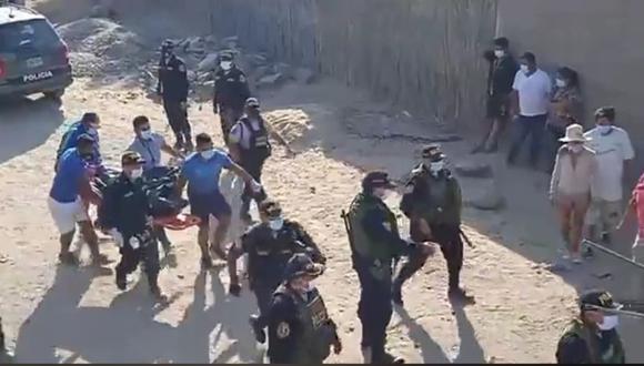 Accidente se produjo en el distrito de Pachacútec, vecinos de la zona indicaron que trabajadores no contaban con equipos de protección