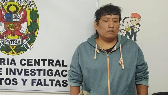 """Carlos Machaca Avendaño alias """"Calancho"""" fue detenido por la policía en un operativo de control de identidad donde se verifico que tenía una orden de captura por homicidio calificado por el crimen de Dariela López"""