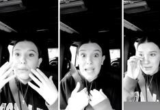 """Millie Bobby Brown llora en redes sociales: """"Si no quiero un video no tengo por qué hacerlo"""" (VIDEO)"""