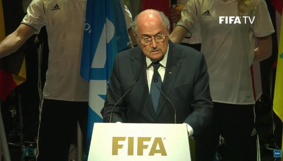 """Joseph Blatter sobre escándalo FIFA: """"Los que están corrompiendo al fútbol son una minoría"""""""
