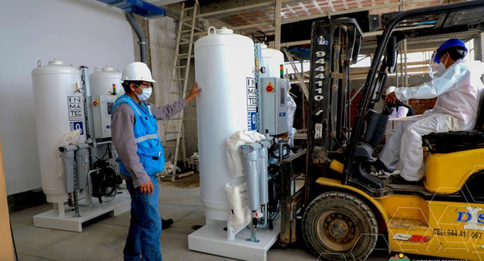 Inicia instalación de planta de oxígeno en hospital Hermilio Valdizán, en Huánuco