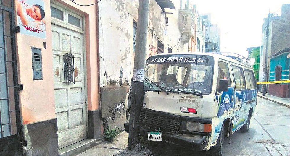Racha de accidentes de tránsito en Chiclayo deja una anciana fallecida