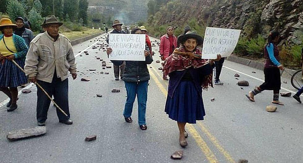 Paro Agrario: Vías bloqueadas en Cusco y sin trenes para ir a Machu Picchu (FOTOS)