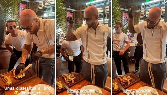 """Maluma visitó la sede de """"Nusr-ET"""", restaurante del conocido chef """"Salt Bae"""" en Miami. (Foto: Instagram / @maluma)."""