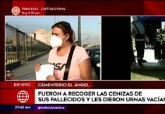 Ocho Familias denuncian presunta cremación colectiva en el cementerio El Ángel