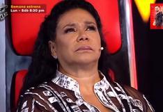 """""""La Voz Perú"""": Eva Ayllón escucha canción """"Fabricando Fantasías"""" y llora al recordar a su padre"""