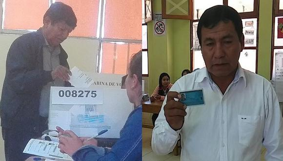 Joaquín Dipas y Ernesto Molina acuden a cumplir su deber cívico