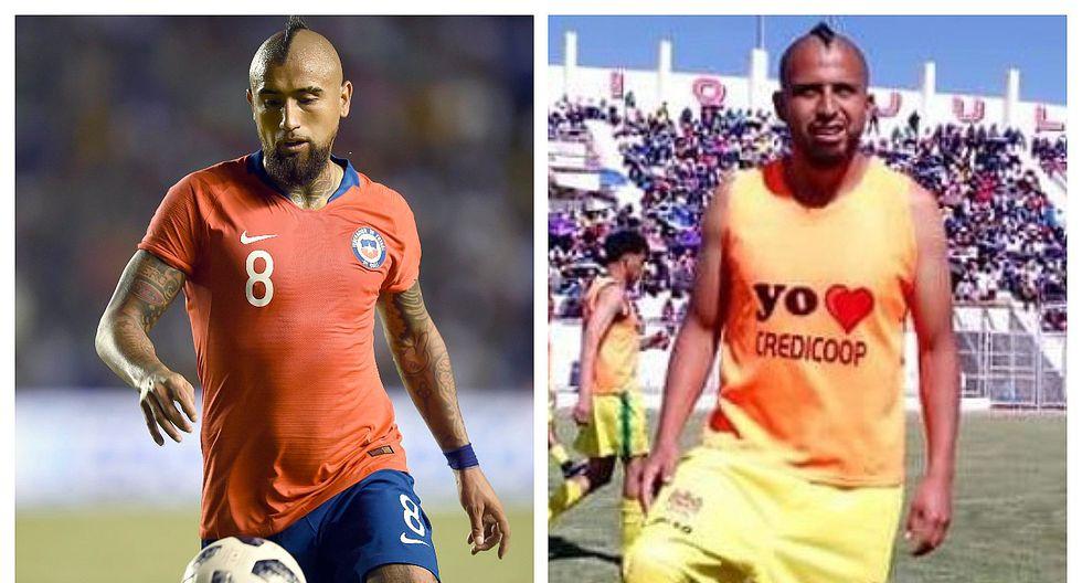 Jugador peruano causa sensación en Chile por su gran parecido a Arturo Vidal (FOTOS)