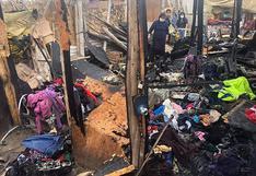 Dos familias quedan sin casa por voraz incendio en Pisco