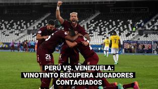 Perú vs. Venezuela: la Vinotinto recupera jugadores y peleará la clasificación con la 'bicolor'