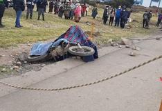 Azángaro: Joven motociclista muere tras despiste de su unidad